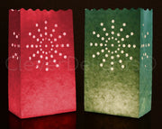 Luminary Bags - Sunburst - Red & Green
