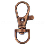 "1.5"" Swivel Lobster Clasps With Key Rings - Antique Copper Color"