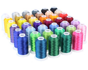 Embroidery Machine Thread Set - 40 Colors - 1100 Yard Spools