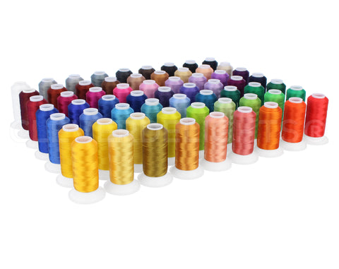 Embroidery Machine Thread Set - 63 Colors - 550 Yard Spools