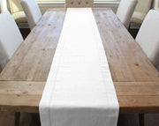 "16"" Hemstitch Table Runner - Linen/Cotton Blend - White"