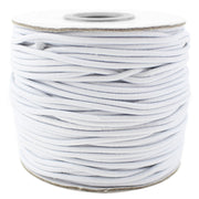 White Fabric Elastic Cord - 2mm