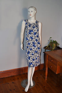 NEW ARRIVALS : 450 - Sleeveless Box Pleat Printed Dress