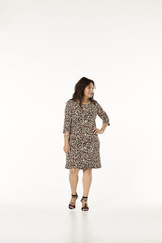 463 - Shift Dress 3/4 Sleeve