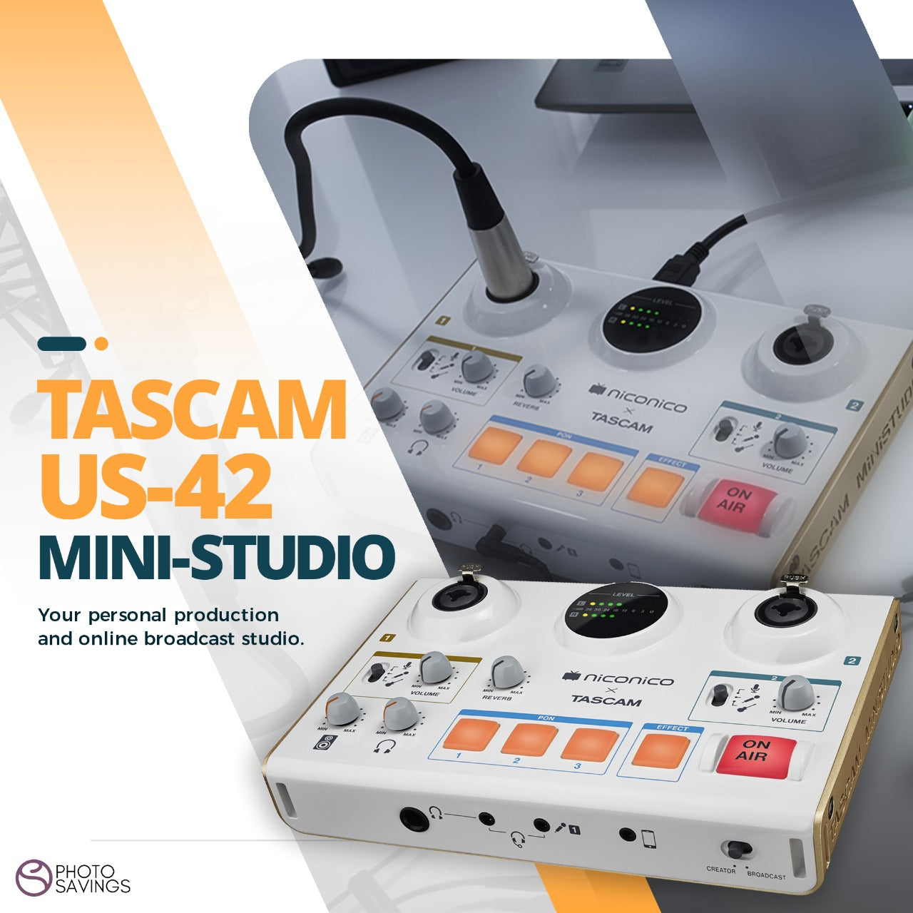 PHOTO SAVINGS EXCLUSIVE: Tascam MiniStudio Creator USB Podcasting Broadcast Interface