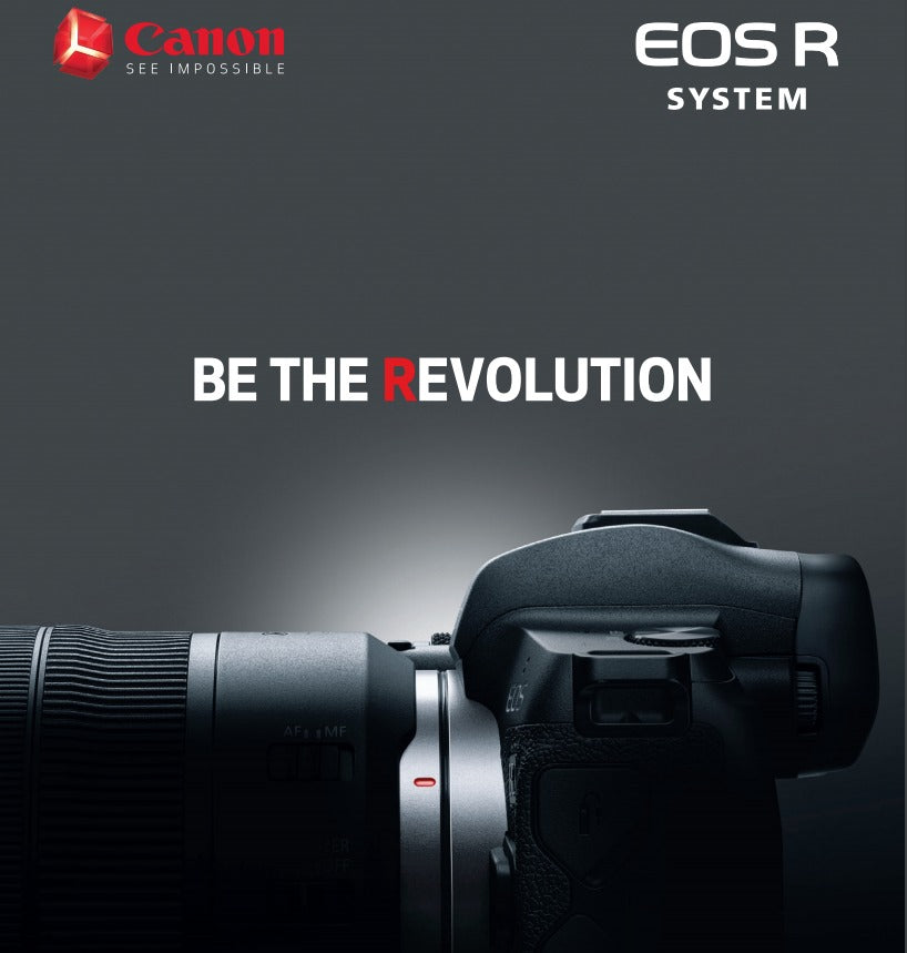 Canon EOS R Mirrorless full-Frame Digital Camera In focus.