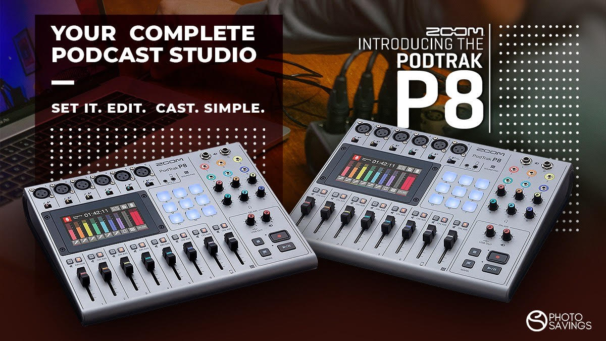 Introducing the New Zoom Podtrak P8