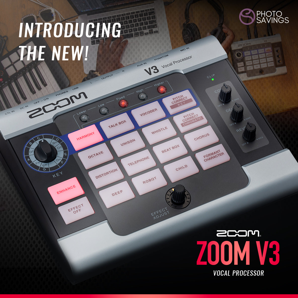 New zoom v3 vocal processor