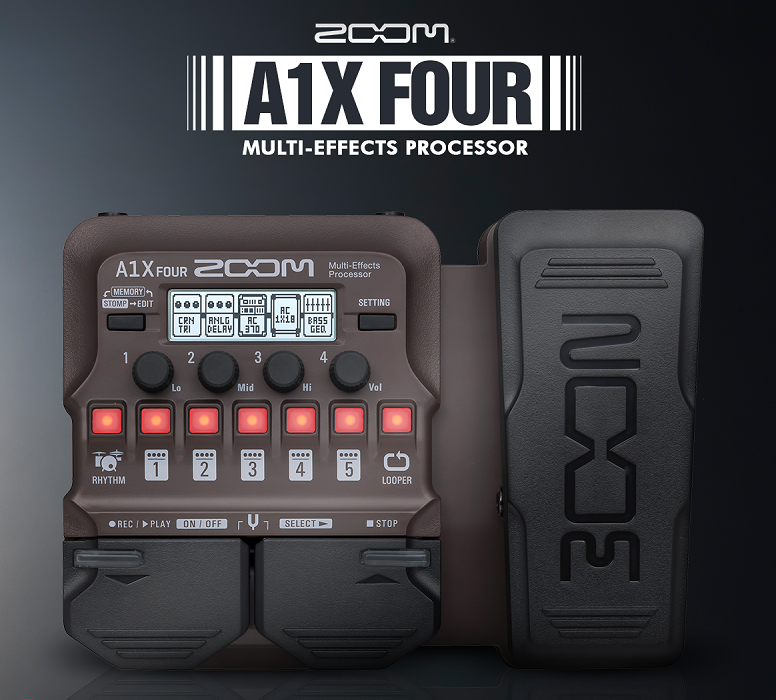 Zoom Unveils New A1 Four and A1X Four Multi-Effects Processor for Guitars and More