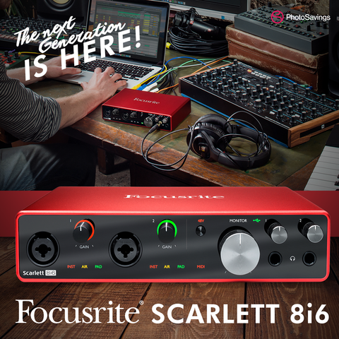 scarlett 8i6 focusrite interface
