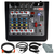 Allen & Heath ZED-6FX Compact 6-Input Analog Mixer with On-Board Effects Engine and Accessory Bundle w/ Fibertique + Cables