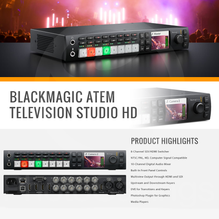 Blackmagic Design Atem Television Studio Hd Switcher With Over Ear Hea Shopify