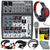 Behringer XENYX 1002 - 10 Channel Audio Mixer and Accessory Bundle w/ Dynamic Mic + Closed-Back Headphones + 6X Cables + Home Recording Guide + Fibertique Cloth