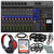 Zoom LiveTrak L-12 Channel Digital Mixer and Multi-Track Recorder Deluxe Bundle w/ Headphones, 10X Cables, 32GB Card and Fibertique Cloth