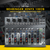 Behringer XENYX 1002B 10-Channel Audio Mixer and Accessory Bundle with 12X Cables + Closed-Back Headphones + Home Recording for Musicians for Dummies + Fibertique Cleaning Cloth