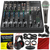 Mackie 802VLZ4, 8-channel Ultra Compact Mixer with Onyx Preamps and Platinum Studio Accessory Bundle w/ Pro Microphone + Studio Headphones + Home Recording Guide + Much More