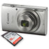 Canon PowerShot ELPH 180 Digital Camera (Silver) + 16GB SDHC Memory Card + Mi...