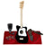 Loog Mini Acoustic Guitar (Black) Comes Ready to Play with Regular Guitar Strings, 3 Notes, Standard Tuning Great for Riffing, with Lessons, Flashcards Great for Children w/ Basic Accessories Bundle
