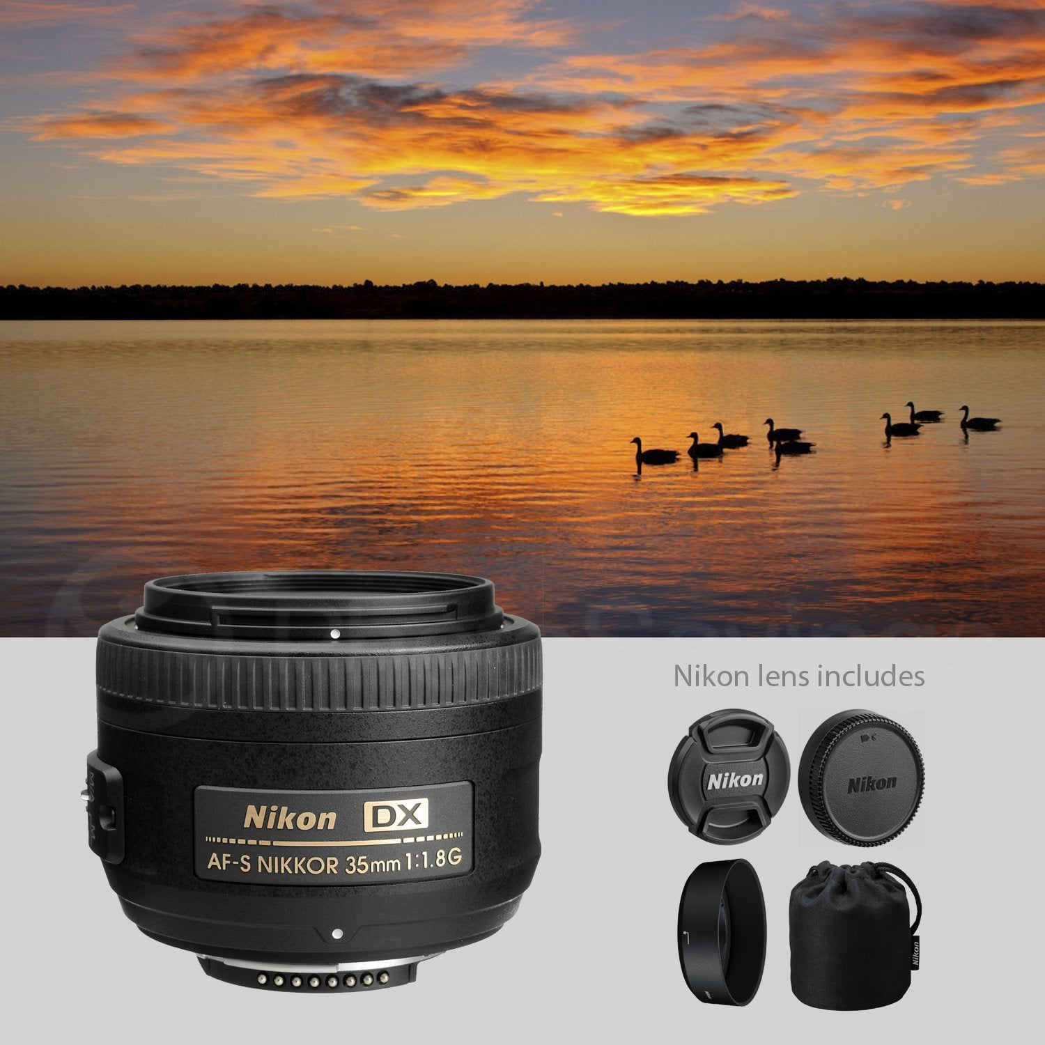 Lens Pouch Xpix Professional Handling Accessories Nikon AF-S DX NIKKOR 35mm f//1.8G Lens Filter Kit Deluxe Accessory Bundle W// 52mm Wide-Angle /& Telephoto Lens