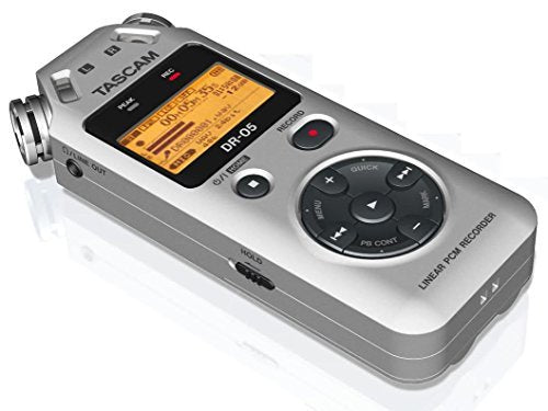 TASCAM DR05 portable digital recorder (SILVER)
