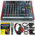 Allen & Heath ZED-10 Multi-Purpose Miniature Mixer and Deluxe Bundle w/ Dynamic Microphone, Closed-Back Headphones, Home Recording for Dummies, and 12X Cables