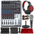 Behringer XENYX Q1204USB 12-Input USB Audio Mixer with Closed-Back Headphones, Dynamic Handheld Microphone, Platinum Bundle