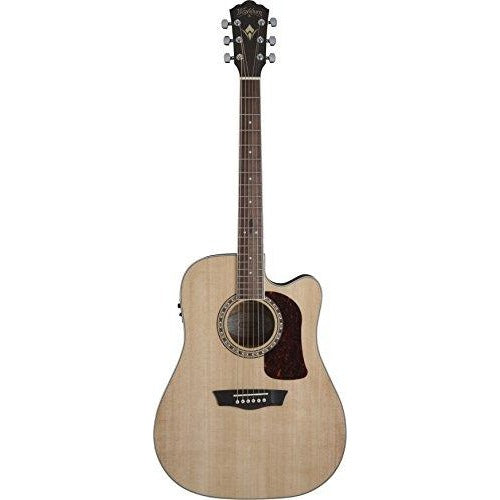 Washburn HD10SCE-O Heritage 10 Series Acoustic Cutaway Guitar, Natural - Thephotosavings
