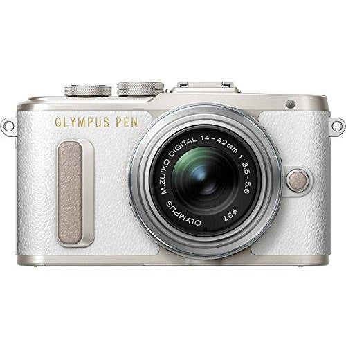 Olympus PEN E-PL8 White Body with 14-42mm IIR Silver Lens - Thephotosavings