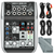 Behringer Xenyx Q502USB Premium 5-Input 2-Bus Mixer with Basic Accessory Bundle