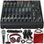 Mackie 1202VLZ4 12-Channel Compact Mixer and Premium Accessory Bundle w/ Professional Microphone, Mic Stand, Closed-Back Headphones, 11X Cables, and Fibertique Cloth