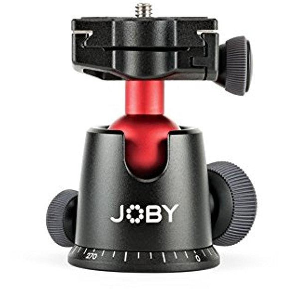 JOBY BallHead 5K. Quick Release Tripod Ball Head for DSLR & Mirrorless Cameras up to 5Kg. Black/Red - Thephotosavings
