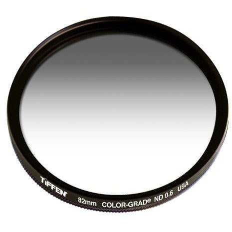 Tiffen 82CGND6 82mm Color Grad ND0.6 2-Stop Filter (Gray) - Thephotosavings