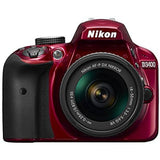 Nikon D3400 24.2 MP Triple Lens Ultimate Parent's Camera Kit, 3.0, Red - Thephotosavings