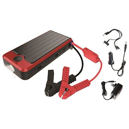 PowerAll PBJS16000R Rosso Red/Black Portable Power Bank and Lithium Jump Starter - Thephotosavings