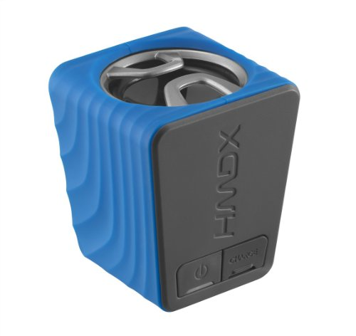 HMDX Burst Portable Rechargeable Speaker, HX-P130BL (Blue)