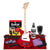 Loog Pro Electric Guitar (Red) Comes Ready to Play with Regular Guitar Strings, 3 Notes, Standard Tuning Great for Riffing, with Lessons, Flashcards Great for Children w/ Deluxe Accessories Bundle