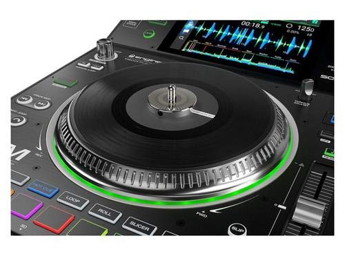 Denon DJ SC5000M | Professional DJ Media Player with Motorized Platter,  Multi-Touch Display, Multifunction Trigger Pads,& Software