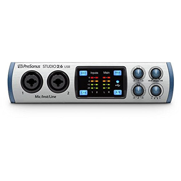 PreSonus Studio 26 2x4, 192 kHz, USB 2.0 Audio Interface - Thephotosavings