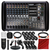 Mackie PPM608 8-Channel 1,000W Powered Mixer and Platinum Microphone Accessory Bundle w/Cardioid Condenser Mic + Xpix Studio Desktop Mic Stand + 10x Cables + More