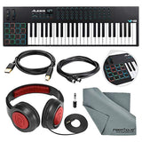 Alesis VI49 25-KeyUSB/MIDI Keyboard & Drum Pad Controller with Samson Over-Ear Headphone, Cables, and Microfiber Cloth