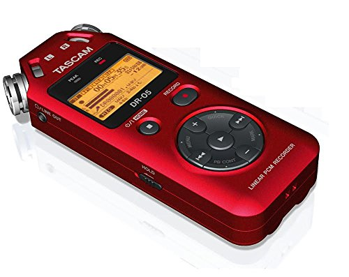 TASCAM DR05 portable digital recorder (RED) - Thephotosavings