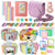 Xpix Accessory Kit for Fujifilm Instax Mini 8, 8+ & 9 includes, (Pink) Case, Album, selfie mirror, colored close up Lenses, 40 film frames, 12 color markers & Complete Bundle