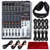 Behringer XENYX Q1204USB 12-Input USB Audio Mixer with Stereo Headphones and Deluxe Bundle