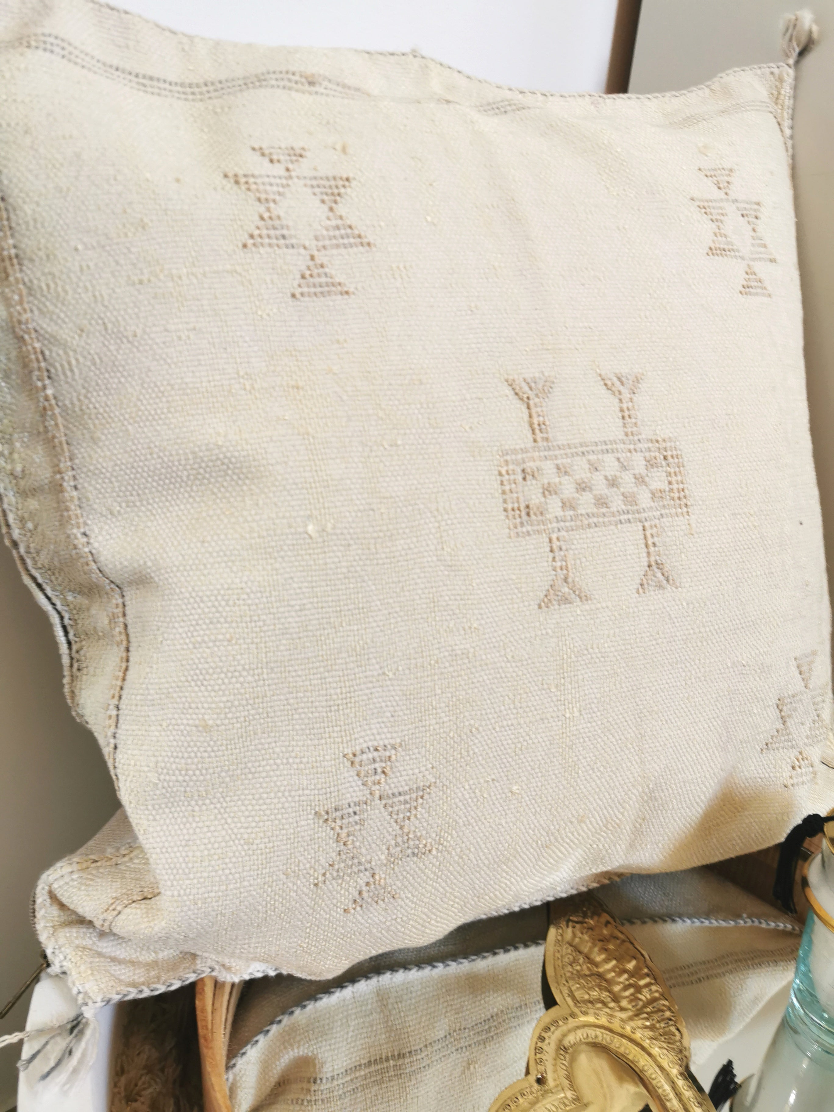 Housse coussin sabra beige