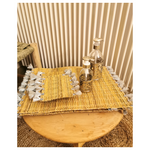 Set de table paille /argent