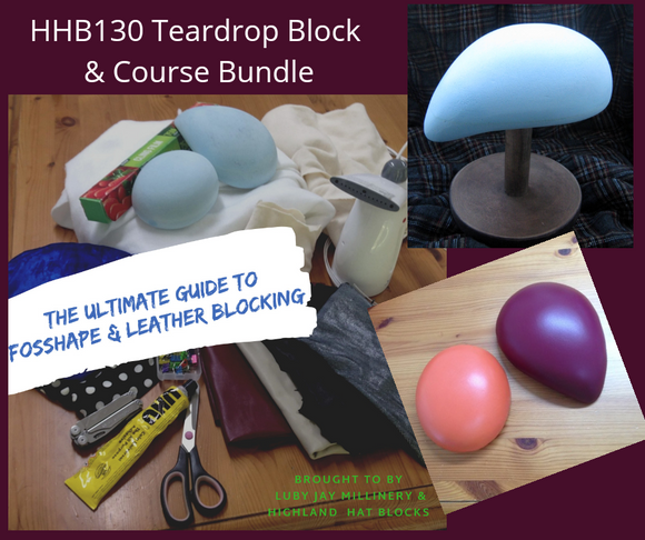 BUN03 Fascinator Teardrop Block c/w Course Bundle