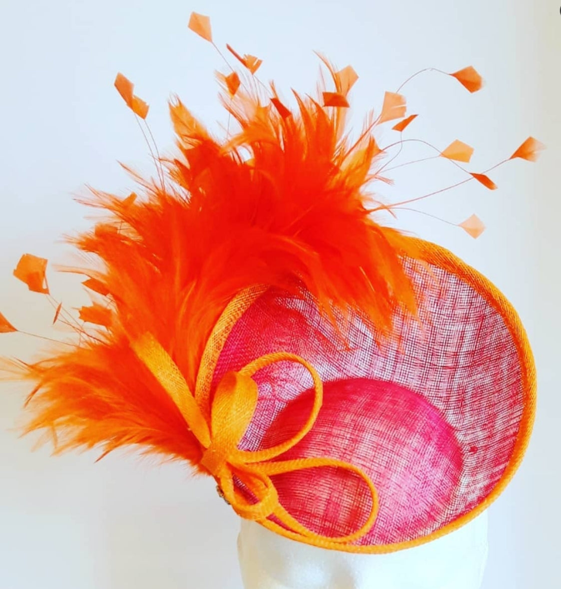 "HHB450 Deep Tilted Fascinator Variants 7"" & 8"" Dia"