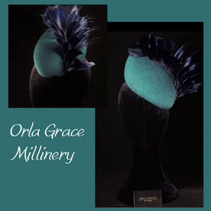 "HHB422 Teardrop Fascinator approx 8"" x 6"""