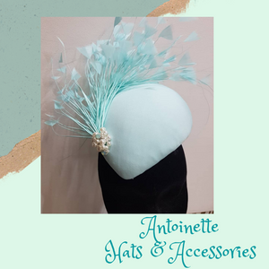 "HHB130 Teardrop Fascinator Block approx 8"" x 6"""