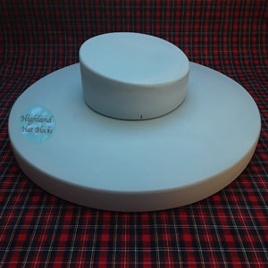 "HHS155 Boater Brim Dia 15"" & Crown Hat Block Set"